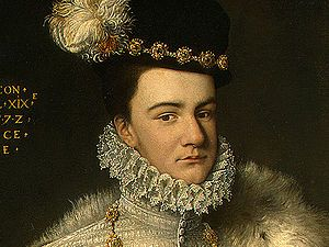 François de France (1555-1584)- A la tête du parti des Malcontents, François joua un rôle politique très important dans la France des années 1570. Il provoqua des troubles à la cour de son frère Henri III et participa aux 6° et 7° guerres de religion. Dans le cadre de la guerre d'indépendance contre l'Espagne, il fut appelé à devenir le nouveau souverain des Pays-Bas. Prétendant de la reine Elisabeth 1° d'Angleterre de 1572 à sa mort, il ne se maria jamais et meurt de la tuberculose en1584