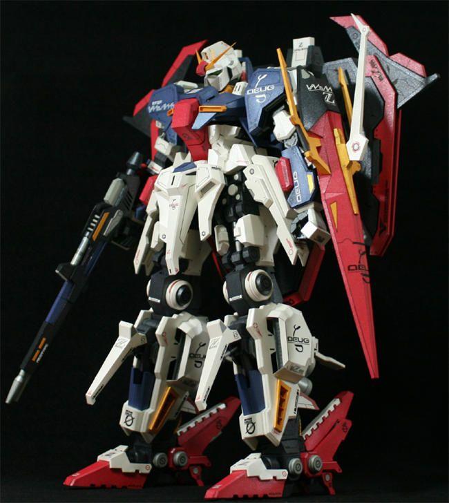 Very Detailed MSZ-006 Hyper Zeta Gundam Papercraft Free Template Download
