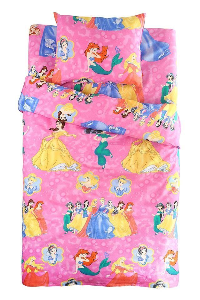Lenjerie 7 Printese Disney si Mica Sirena 3 piese 160 x 200 cm