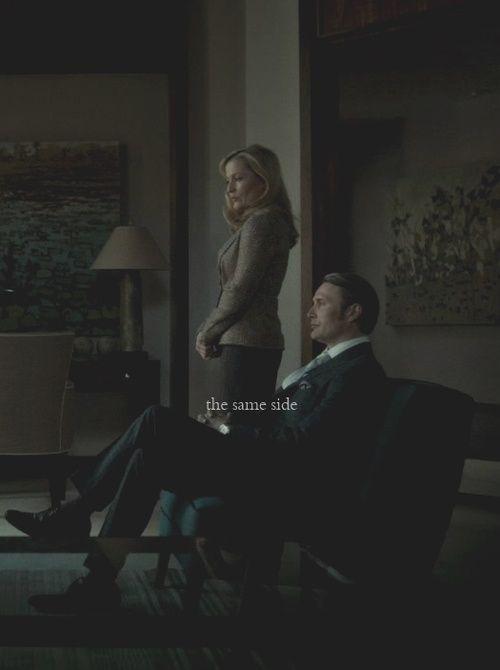 Dr. Bedelia du Maurier (Gillian Anderson) and Dr. Hannibal Lecter (Mads Mikkelsen)