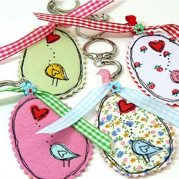 Pretty fabric keyrings