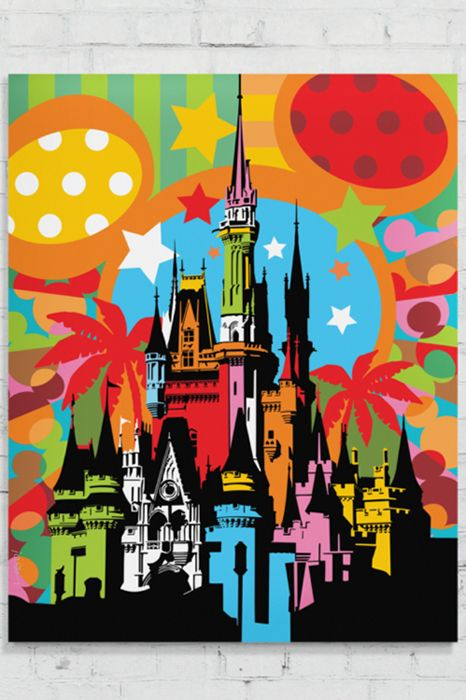 Dream Trip | Pop Art | Lobo Cinderella Castle - Magic Kingdom - Disney
