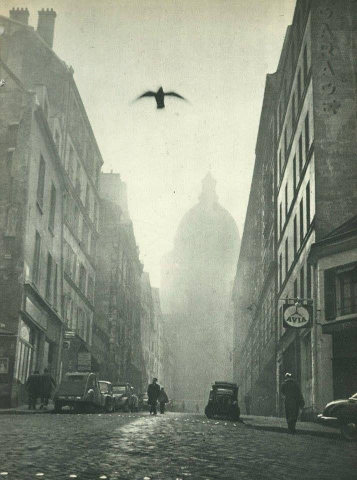 Rue Valette et Panthéon, Paris 1957 Jacques Boulas