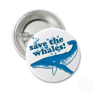 Save the Whales buttons - starting at $1.75 at Zazzle.com - different sizes available! #whale #art
