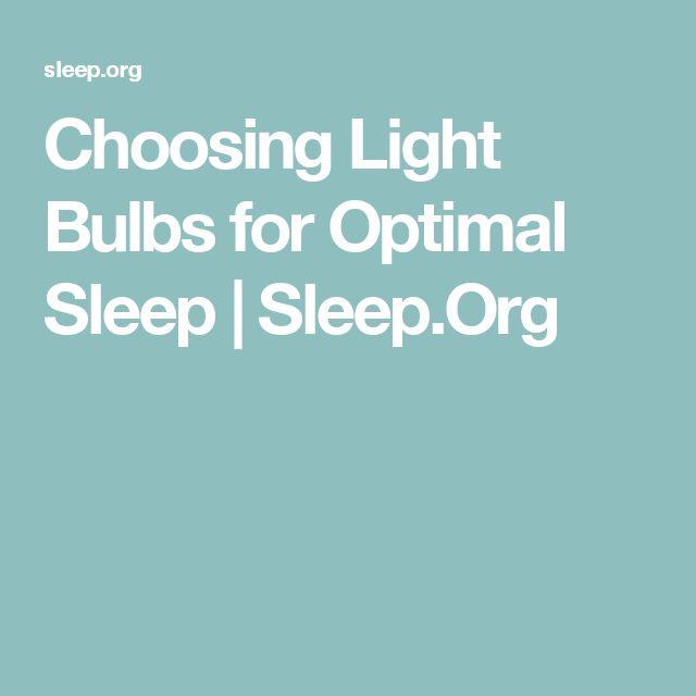 Choosing Light Bulbs for Optimal Sleep   Sleep.Org
