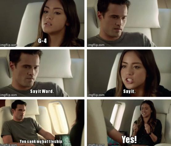 Marvels agents of shield. I just love Skye's facial expressions!