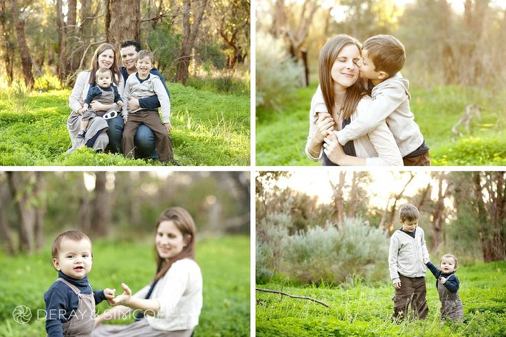 What to wear to a family portrait? Tones of navy, grey, fawn and cream combine for a cohesive look to the family. Photography by DeRay & Simcoe
