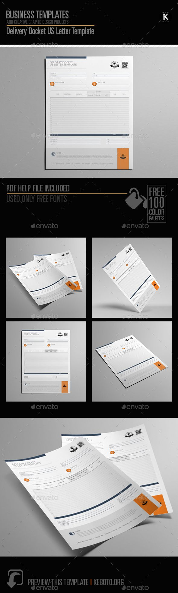 Delivery #Docket US #Letter Template - Miscellaneous #Print Templates Download here:  https://graphicriver.net/item/delivery-docket-us-letter-template/20294103?ref=alena994