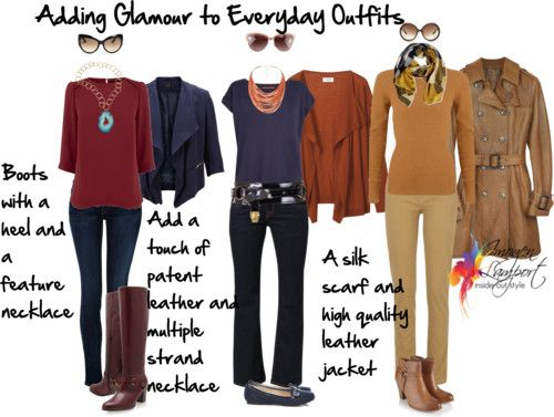 How to Add a Touch of Glamour to Your Everyday Casual Outfits - in the link, though, I really like the way this person evaluated and presented her personal style