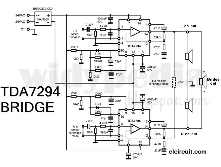 bridge tda 7294 power amplifier in 2019