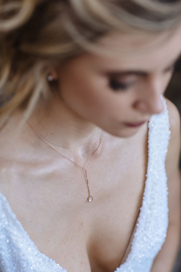 Samantha Wills necklace is the perfect addition to the Moira Hughes Leigh gown.