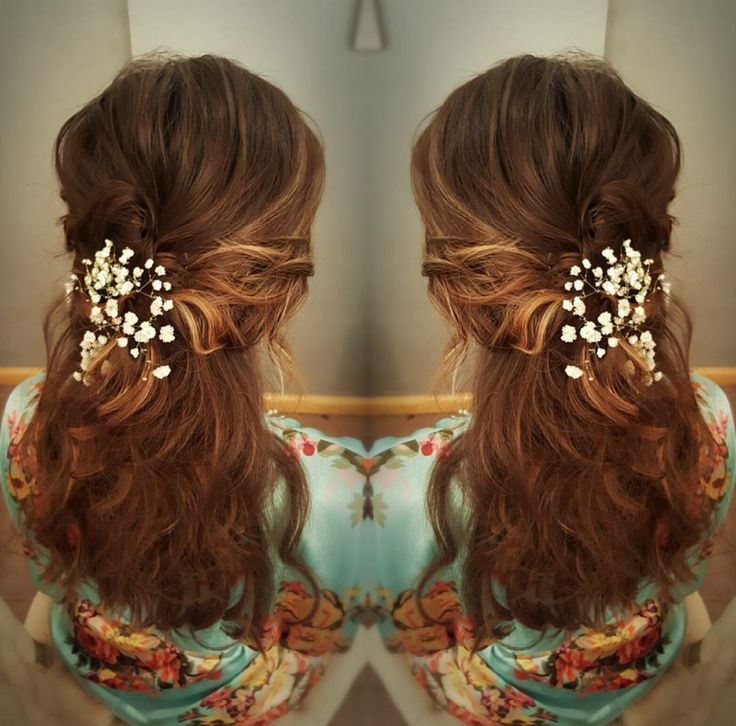 spanish wave weave hairstyles : long hair - boho bridesmaids hairstyle by Brandalyn - Southern Belle ...