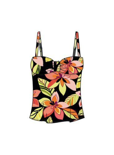 Sunsets 390T-MISE Bandeau Tankini Sunsets. $86.00. Has matching colored lining. nylon. Look great for anything from lounging poolside to going on that special date in this styling bandeau style tankini. Conservative coverage. Bandeau is cinched in at center with removable soft adjustable over the shoulder straps. Features sewn in soft cups, powernet, and supportive underband for maximum support