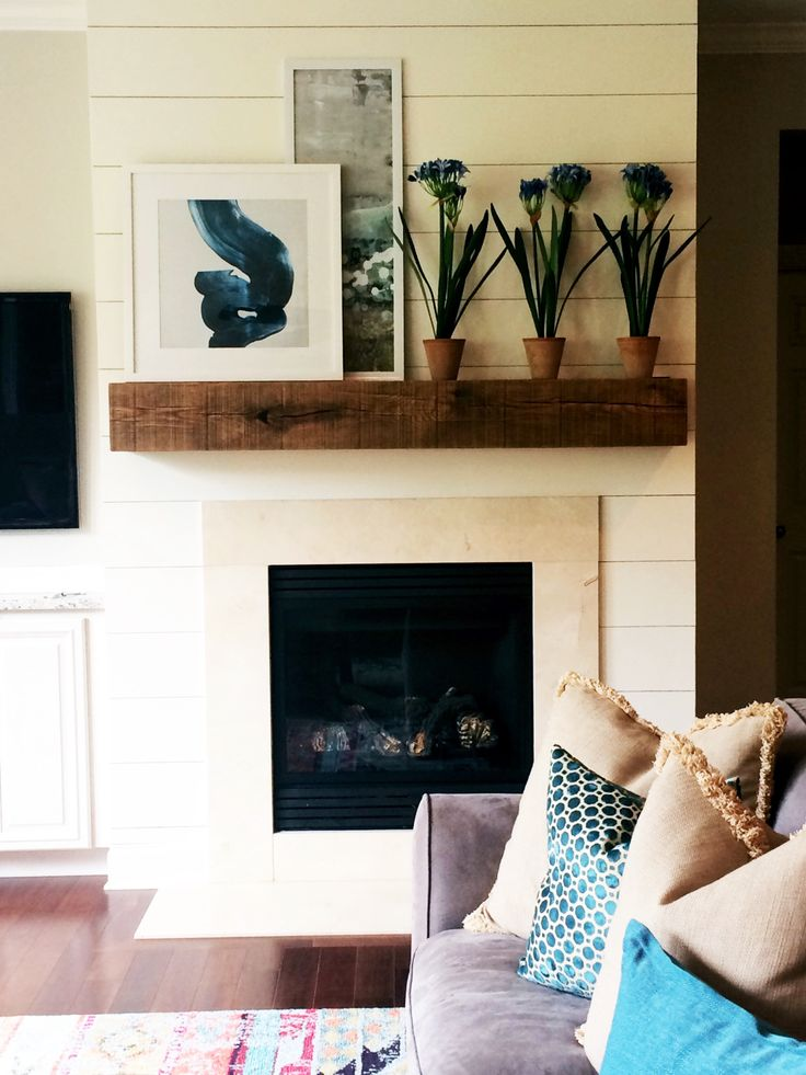This rad floating mantel is perfect for any home! We love our floating mantel brackets and we know you'll love them too!