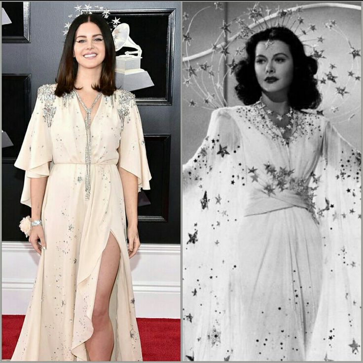 Channeling Hedy Lamarr vibes tonight at the red carpet at the 60th Grammy Awards Ceremony
