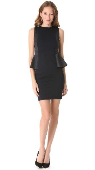 alice + olivia Side Peplum Sleeveless Dress