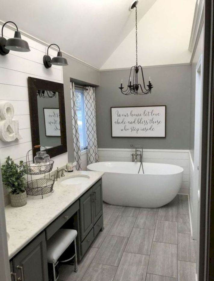 gorgeous farmhouse bathroom decor ideas 31 bathrooms remodel in rh pinterest com