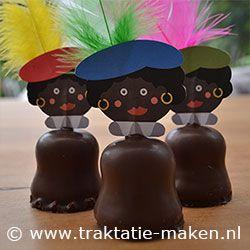 pietenhoofdje op een negerzoen. www.traktatie-maken.nl