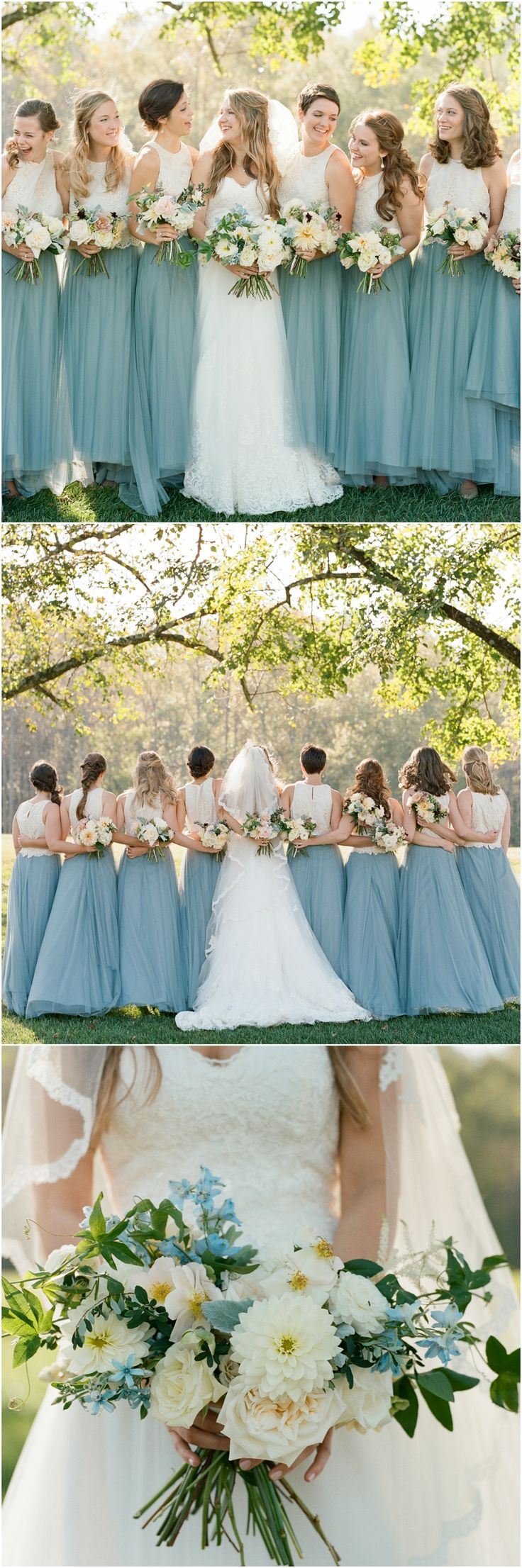 @BHLDN bridesmaid dresses, bridal separates, blue skirt, spring wedding fashion // Elisa Bricker