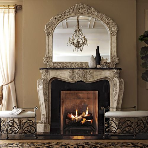 1000 images about french style mantels on pinterest for French country stone fireplace