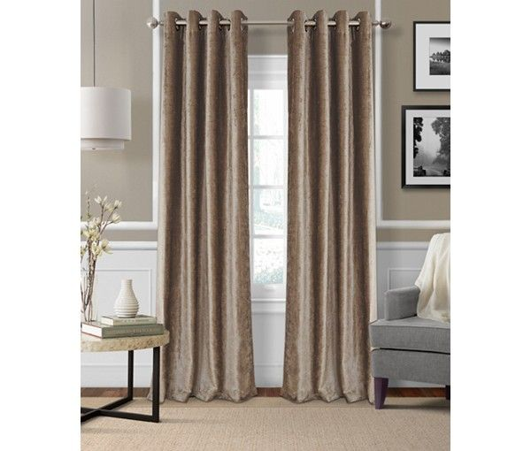 Elrene Victoria Velvet Room Darkening Thermal Window Treatment Collection - Window Treatments - For The Home - Macy's