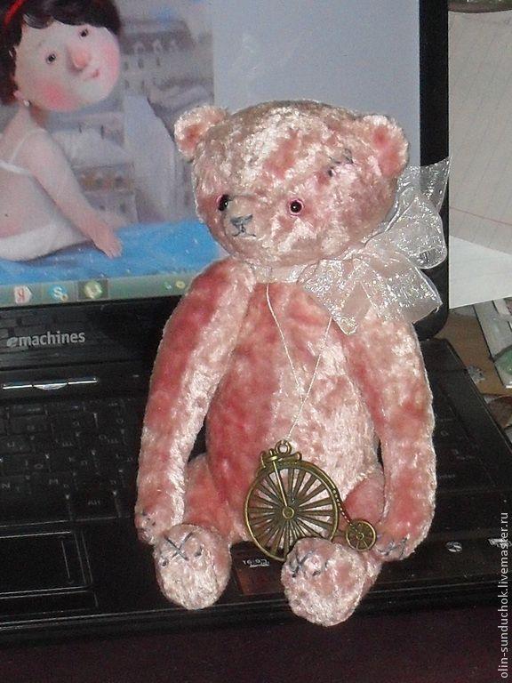 Маленькая Жюльет. мишка-тедди.22 см. - бледно-розовый,мишка тедди,мишка ручной работы