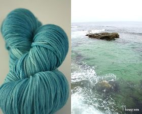 Blogged at Schatzi's knits: Charting new territory - my first attempt at Yarn dyeing, ocean tones