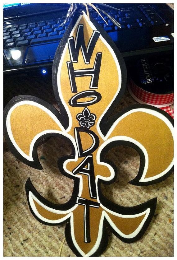 Who Dat Fleur de lis New Orleans Saints Door by geauxgirldesigns, $40.00