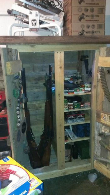 gun cabinet from pallets
