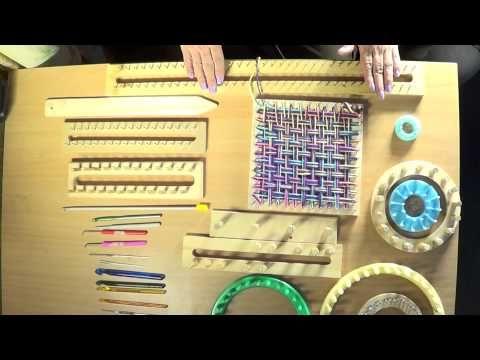 Como hacer Telares Caseros para Tejer - Patrones Crochet