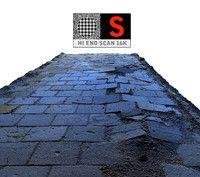 sidewalk pavement scanned obj