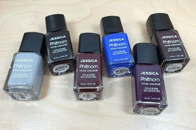 ehmkay nails: Jessica Cosmetics Phenom Colors: Winter 2015 Swatches and Review