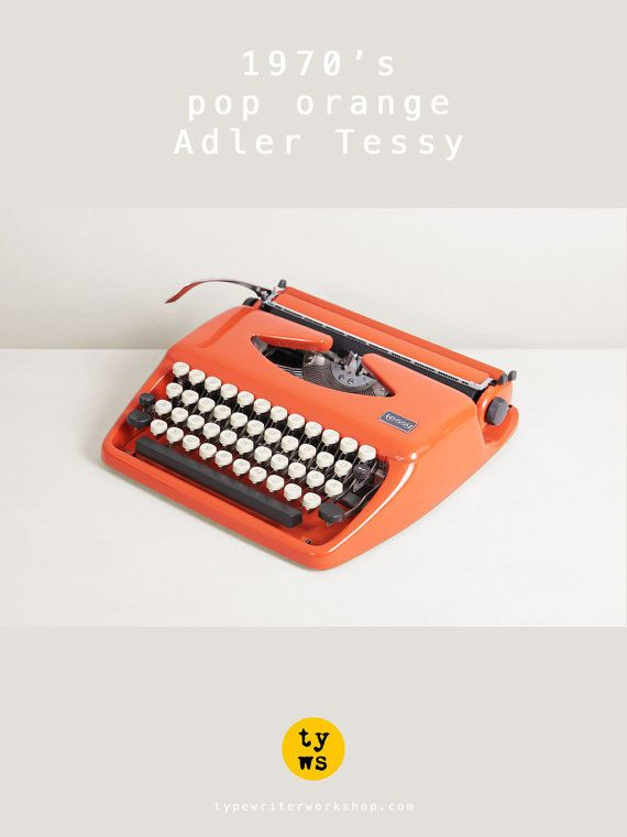 1972 Triumph Adler Tessy Typewriter. Tippa. Pop by TypewriterWshop, €225.00