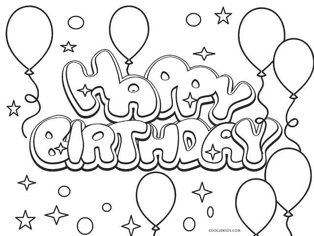 Pin By Tom H On Activities For Kids Happy Birthday Coloring Pages Birthday Coloring Pages Happy Birthday Drawings