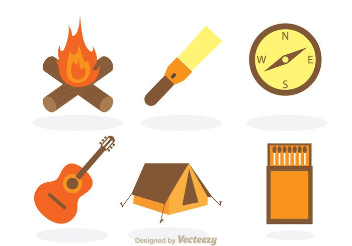 Free vector Camping Vector Items #20322