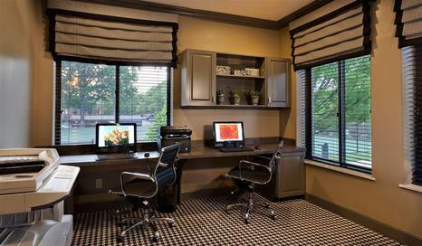 Business center with internet access. #AGranderLifestyle www.ntshurstbourne.com