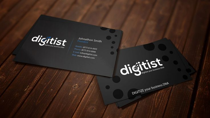 Design awesome business cards for software/technology company Digitist by Fearsome_Design