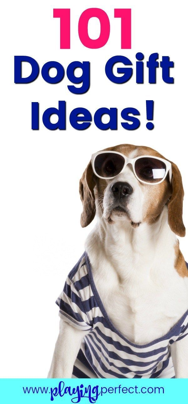 Dog gift ideas! If you're looking for a special gift for your dog, or are shopping for Christmas dog gift ideas or dog Mother's Day ideas or dog Father's Day ideas, or even for your dog's birthday, this is the post for you! 101 ideas for dog gifts! FREE printable! | playingperfect.com #doggiftideas #dogideas #giftsfordogs #doggift #dogbirthday #dogparty #newpuppy #gifts #dogs #dogmom #dog #gift
