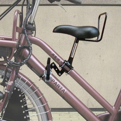 Selle enfant sur cadre de vélo femme. Selle à monter sur votre vélo de ville ou hollandais pour les trajets du quotidien avec un enfant