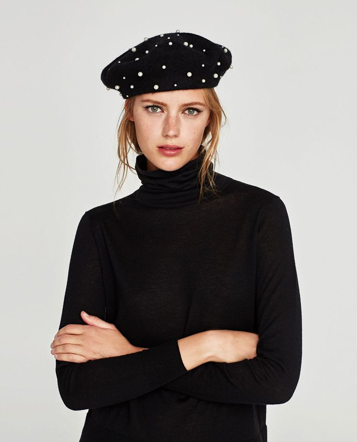 PEARLY BERET-Hats | Beanies-ACCESSORIES-WOMAN | ZARA United States