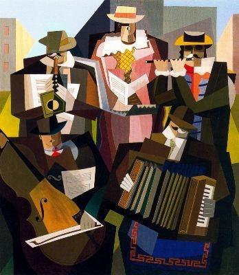 Emilio Pettoruti. Pintor argentino. Quinteto (1927).