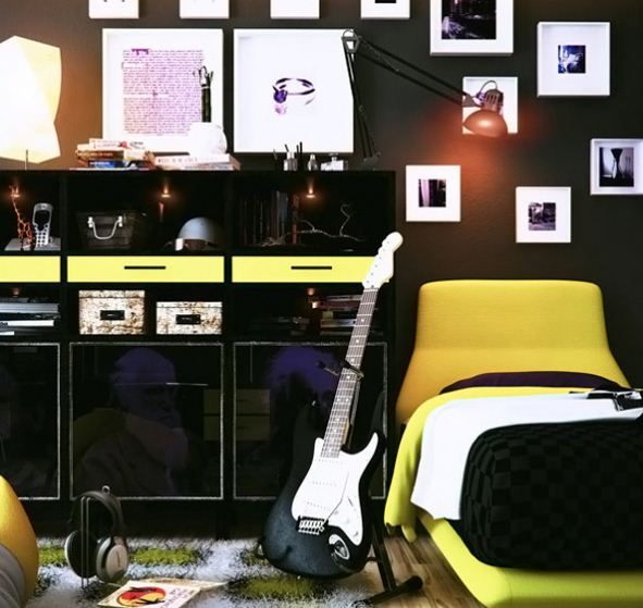 Exclusive Collections Teenage Boys Bedroom Designs : Teenage Boys Bedroom Designs In Combination Of Earthy Colors In  He Colors And Materials Used Here Just Blend Nicely.