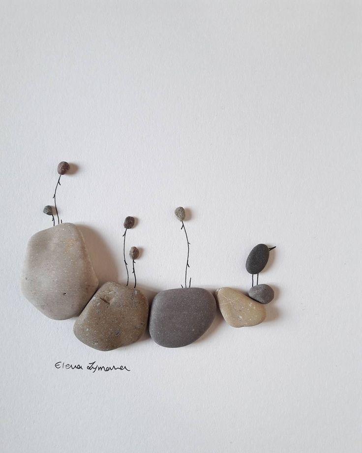 20x30 in frame. . . . . #rockart #rocks #pebblerocks #flower #handpicked #birdsontherocks #minimal