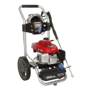Homelite 2700 psi 2 3 gpm honda gas pressure washer for Driveway pressure washer