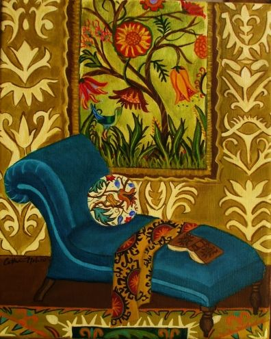 Resting Gardener, painting by artist Catherine Nolin