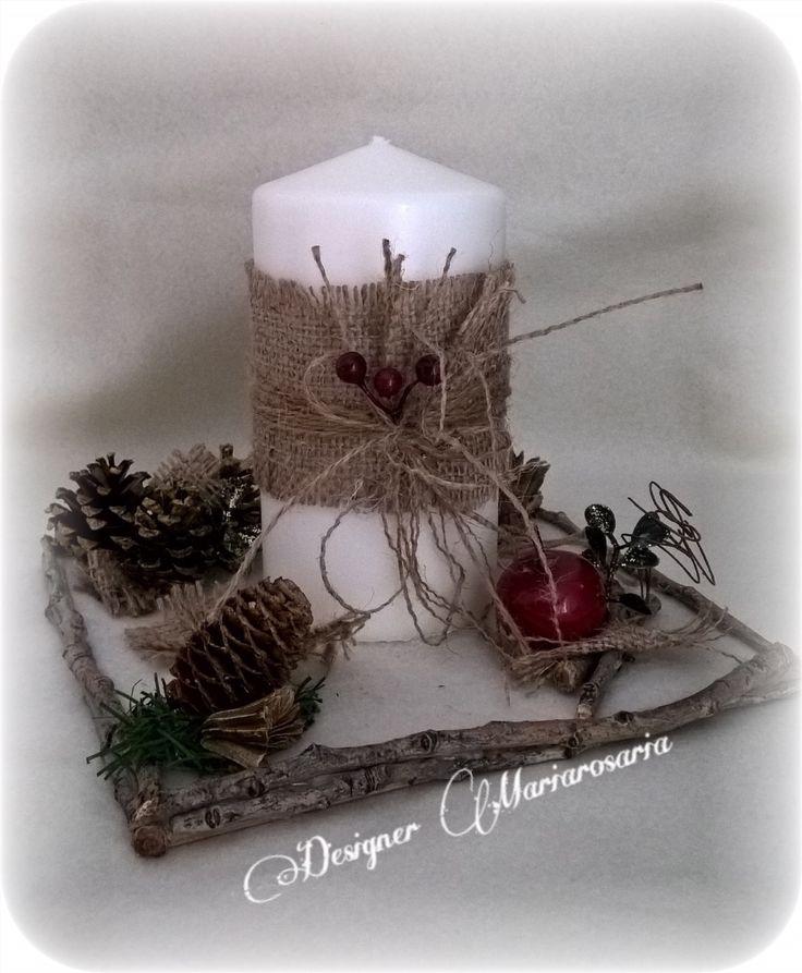 Centrotavola natalizio designer Mariarosaria