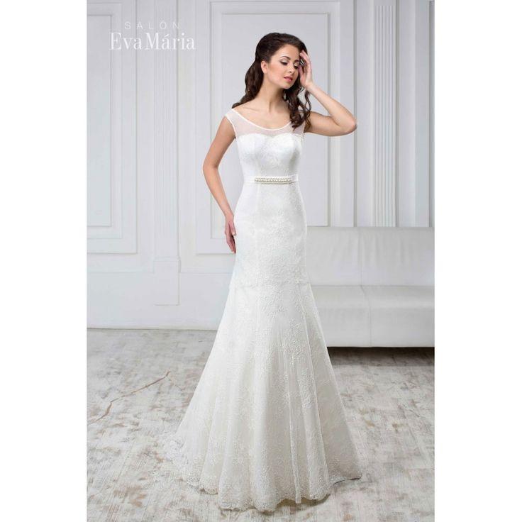Svadobné šaty s čipkou Adina
