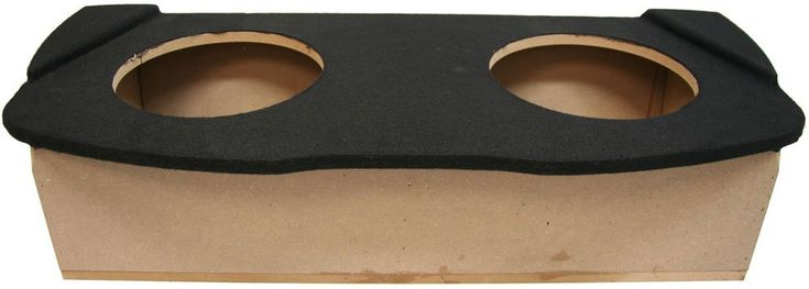 """ASC Nissan 350Z Coupe 2003-2008 Dual 10"""" Subwoofer Custom Fit Hatch Sub Box Speaker Enclosure. Dimensions: Width 41-3/4"""" x Height 9-3/4"""" x Top Depth 18"""" x Bottom Depth 14-3/8"""". Install Location: Behind Seat in Trunk. Install Notes: Does Not fit Convertible. Mounting Depth: 7-5/8 Inches. Air Space: 1.10 Cubic Feet."""