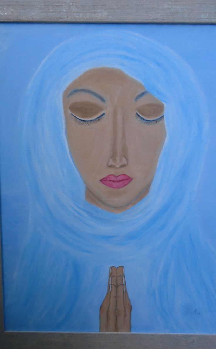 """Acrylic painting - """"Suffering for her faith"""""""