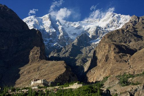 Baltit Fort guards the entrance to the glacier, Hunza Valley, Pakistan